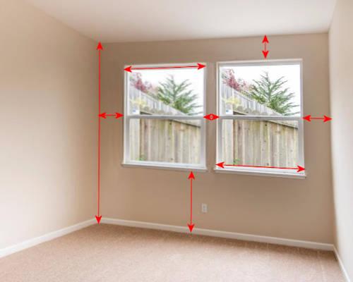 2. Please measure Outside of windows frame