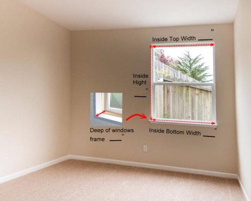 2. Please measure  Inside of windows frame